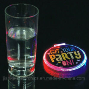 LED Light Blinking Drink Coasters with Logo Print (4038)