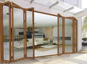 Aluminium Folding Doors with Double Glazing for House pictures & photos