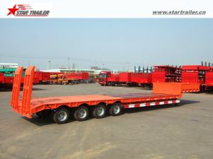 Step Deck Trailer >> Step Deck Trailer Low Loader With 4 Axles For Transporting