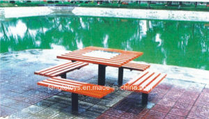 Park Bench, Picnic Table, Cast Iron Feet Wooden Bench, Park Furniture FT-Pb036