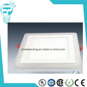 12+4W Slim Double Color Blue LED Panel Light