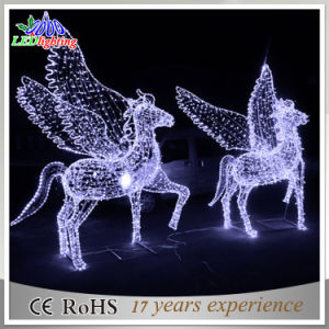 Christmas Horse Pictures.Christmas Holiday Decoration 3d Motif Horse Waterproof Led Street Light