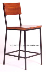 Morden Classic Metal Dining Restaurant Solid Wooden Bar Chair pictures & photos