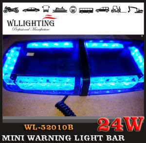 Blue LED Mini Lightbars with Magnets & Brackets Mount