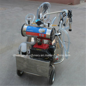 Mobile Cow Milking Machine with Diesel Engine pictures & photos