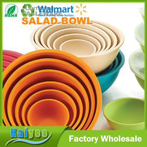 Wholesale Different Size and Color Kitchenware for Bamboo Fiber Salad Bowl pictures & photos