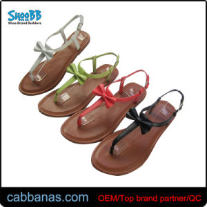 61253f113 China Many Colors Sweet Style Summer Thong Sandals for Women - China ...