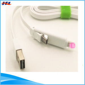 2 in 1 USB Cable Use for Micro & iPhone 8pin Connector Phone Charging Data Cable #3