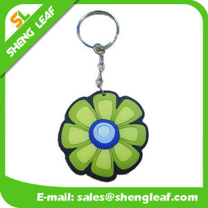 Customized Popular Flower 3D Rubber Key Chain (SLF-KC004)