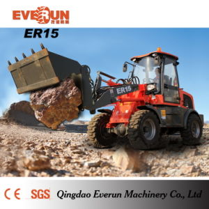 Everun CE Approved Front End Loader Er15 with Rops&Fops Cabin pictures & photos