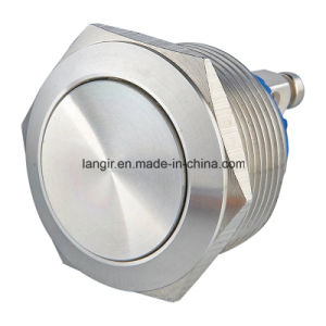 22mm Domed Head Screw Terminal Stainless Steel Resetable Push Button Switch pictures & photos