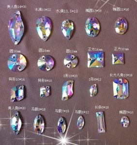Teardrop Ab Color Sew On Stones Beads For Wedding Dress