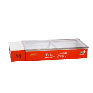 Two Glass Sliding Doors Desktop Seafood Freezer