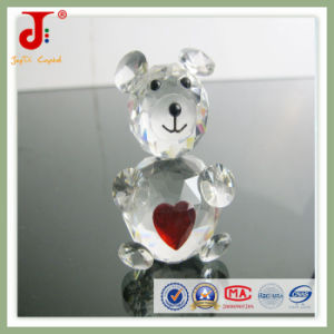 Popular Home Decoration Animals Crystal Bear with Heart pictures & photos