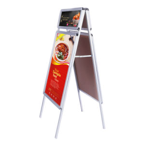 Sidewalk Sign for Posters, Double Sided, with Headers pictures & photos
