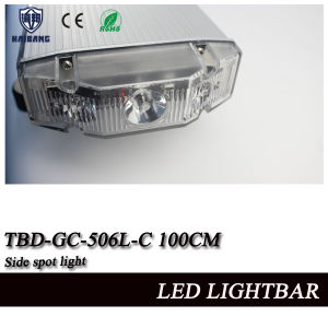 Tir Lens Police Car Roof Mounting LED Green Warning Head Flashing Lightbar with White Takedowns and Alley Lights pictures & photos