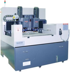Double CNC Engraving Machine for Mobile Glass in Precision (RCG860D)