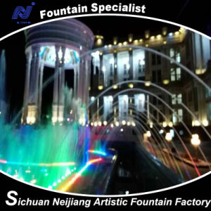 Villa Music Fountain with Colorful Lighting