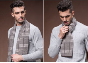 Men′s Winter Warm Wool Polyester Nylon Acrylic Woven Scarf (YKY4604) pictures & photos