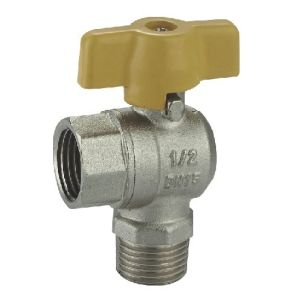 (HE-1136) Brass Ball Valve Pn16 with Wing Handle for Water, Oil