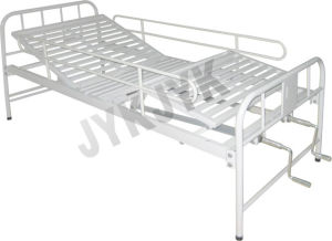 Stainless Steel Two Functions Manual Bed Hospital Bed pictures & photos