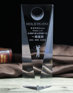 Blank Polished 3D Laser Engraved Crystal Glass Award for Souvenir pictures & photos