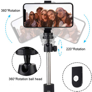 China Selfie Stick With Bluetooth Remote Shutter, Selfie