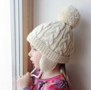 Children Home Prefer Outdoor Kids Girls Boys POM POM Peruvian Beanie  Earflaps Winter Snow Ski Hat 74c25278dc3