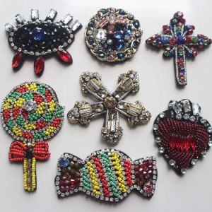 Colorful Handmade 3D Beaded Applique pictures & photos