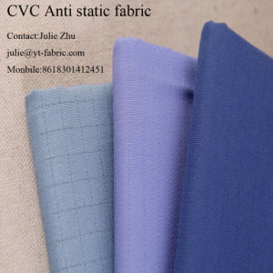 CVC Grid Anti-Static Fabric for Industry Workwear pictures & photos