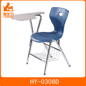 School Metal Frame Padded Study Chair With Attached Folding Writing Table