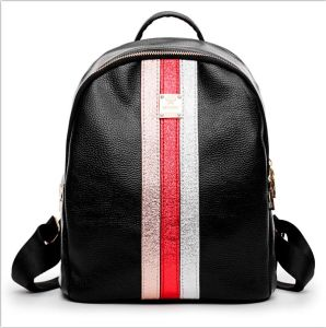 Black Backpack for Students Bucket Bag and Designer Bags for Autumn High Quality Leather Bags