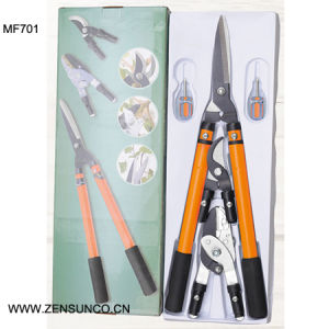 Three Different Head Telescopic Handle Garden Tool Sets pictures & photos