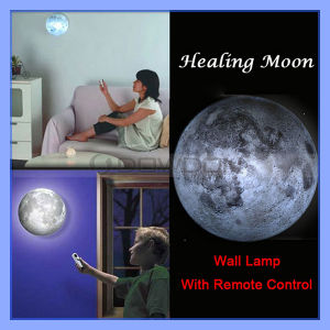 Twilight Relaxing Healing Moon Light Indoor Novel LED Wall Lamp with Remote Control pictures & photos