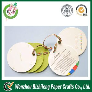 Speical Cardboard Round Tag with Pin&Ribbon (BZFA-0007)