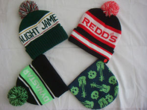 Knitted Winter Warm Acrylic Jacquard Unisex Beanie pictures & photos