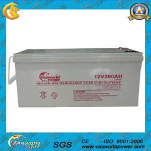 12V 200ah Rechargeable AGM Lead Acid Storage Battery pictures & photos