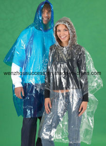 Unisex Durable 100% Waterproof Rain Poncho pictures & photos