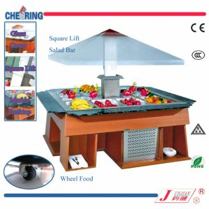 Ce Approved Restaurant Equipment Square Lift Salad Bar Showcake pictures & photos