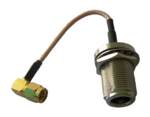 N Female to SMA Plug RF Coaxial Connector, and Rg178 Cable Assembly