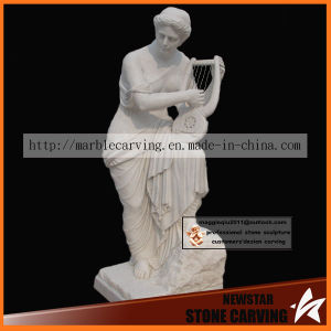 Playing The Harp Statues Sculpture in Marble Carving pictures & photos