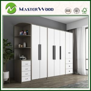 [Hot Item] Cheap EUR Style Bedroom Wardrobe with 18mm MDF Board Corner  Cabinet