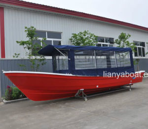 Liya 25FT Passenger Fiberglass Hull Boat for Fishing for Sale pictures & photos
