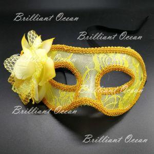 White /& Gold Metal Clear Brilliant Rhinestone Princess Masquerade Eve party Mask