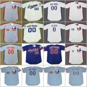 new style 567d6 e41d0 Larry Walker Bill Lee Pedro Martinez Cusomized Throwback Baseball Jersey