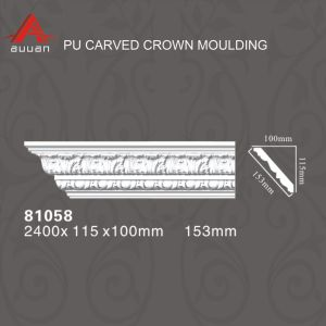 81058 Polyurethane Pop PU Foam Decorative Cornice Prices Crown Moulding