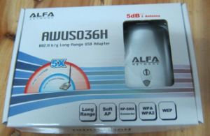 China Alfa Awus036h 1000mw High Power WiFi USB Adapter - China Wifi