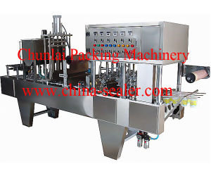 Automatic Chocolate Cup Filling Sealing Machine pictures & photos