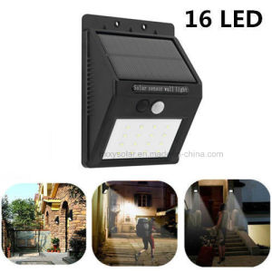Outdoor Waterproof Solar Security Wall Lamp High Lumen Solar Powered PIR Motion Sensor Light pictures & photos