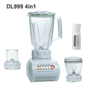 4in1 Plastic Home Blender with Attachment Grinder, Filter, Meat Mincing
